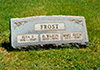 Elva Sibley Frost, Halsey Wilson Frost and Mary Edith Frost headstone